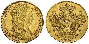 4 Escudo 葡萄牙王國 (1139 - 1910) 金 Maria I of Portugal (1734-1816)
