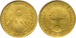 4 Escudo Costa Rica / 中美洲联邦共和国 (1823 - 1838) 金