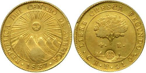 4 Escudo Costa Rica / Federal Republic of Central America (1823 - 1838) Gold