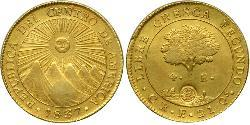 4 Escudo Costa Rica / Zentralamerikanische Konföderation (1823 - 1838) Gold