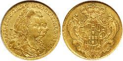4 Escudo Kingdom of Portugal (1139-1910) Gold Peter III. von Portugal  (1717-1786)