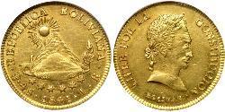 4 Escudo Plurinational State of Bolivia (1825 - ) Gold