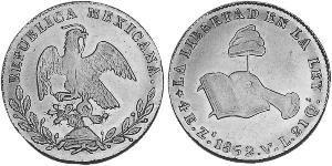 4 Escudo Second Federal Republic of Mexico (1846 - 1863) Gold
