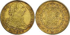 4 Escudo Spanisches Kolonialreich (1700 - 1808) Gold Karl III. von Spanien (1716 -1788)