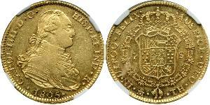 4 Escudo Spanish Mexico  / Kingdom of New Spain (1519 - 1821) Gold Charles IV of Spain (1748-1819)
