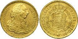 4 Escudo Viceroyalty of New Granada (1717 - 1819) Gold Charles III of Spain (1716 -1788)