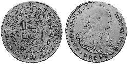 4 Escudo Vizekönigreich des Río de la Plata (1776 - 1814) / Bolivien Gold