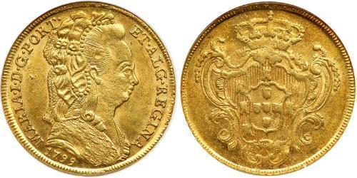 4 Escudo Royaume de Portugal (1139-1910) Or Marie I de Portugal (1734-1816)