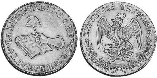 4 Escudo Estados Unidos Mexicanos (1846 - 1863) Oro