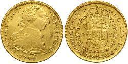4 Escudo Perù Oro Carlo IV di Spagna (1748-1819)