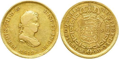 4 Escudo Perú Oro Fernando VII de España (1784-1833)