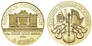 4 Euro 奥地利 金