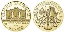 4 Euro Republic of Austria (1955 - ) Gold