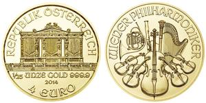 4 Euro Republic of Austria (1955 - ) Oro