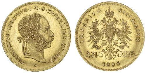 4 Florin Österreich-Ungarn (1867-1918) Gold Franz Joseph I (1830 - 1916)