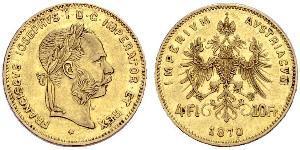 4 Florin Austria-Hungary (1867-1918) Gold Franz Joseph I (1830 - 1916)