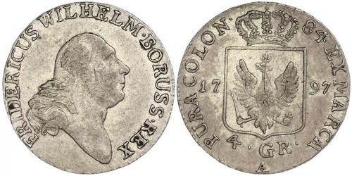 4 Groschen Королівство Пруссія (1701-1918) Срібло Фрідріх-Вільгельм II