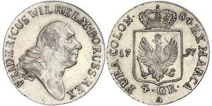 4 Groschen Royaume de Prusse (1701-1918) Argent Frédéric-Guillaume II de Prusse