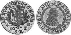 4 Groschen Principality of Anhalt-Zerbst (1544 - 1796) Silver Frederick Augustus, Prince of Anhalt-Zerbst (1734 – 1793)
