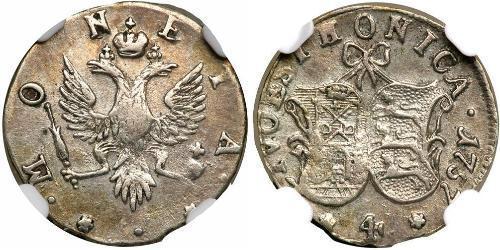 4 Kopeck Russian Empire (1720-1917)  Jelisaweta I Petrowna (1709-1762)