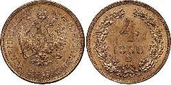 4 Kreuzer Kaisertum Österreich (1804-1867) Kupfer