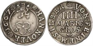4 Mariengroschen States of Germany Silver