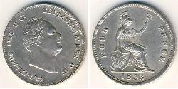 4 Penny United Kingdom Silver