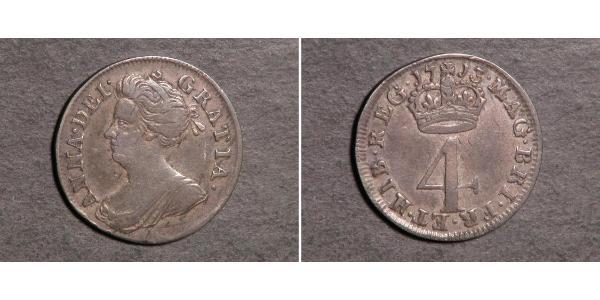 4 Penny United Kingdom Silver Anne, Queen of Great Britain (1665-1714)