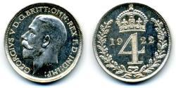 4 Penny United Kingdom (1922-) Silver George V of the United Kingdom (1865-1936)