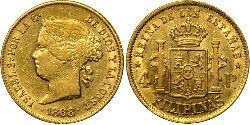 4 Peso 菲律宾 金 Isabella II of Spain (1830- 1904)