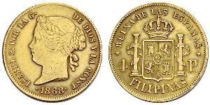 4 Peso Filipinas Oro Isabella II of Spain (1830- 1904)