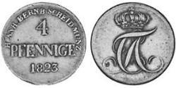 4 Pfennig Anhalt-Bernburg (1603 - 1863) Copper Alexius Frederick Christian, Duke of Anhalt-Bernburg (1767 – 1834)