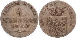 4 Pfennig Kingdom of Prussia (1701-1918) Copper