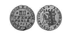 4 Pfennig Principality of Anhalt-Zerbst (1544 - 1796) Silver Frederick Augustus, Prince of Anhalt-Zerbst (1734 – 1793)