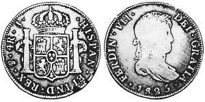 4 Real 玻利維亞 / 拉普拉塔总督辖区 (1776 - 1814) 銀 费尔南多七世 (1784 - 1833)