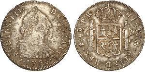 4 Real Bolivia / Vicereame del Río de la Plata (1776 - 1814) Argento Carlo III di Spagna (1716 -1788)