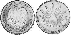 4 Real Second Federal Republic of Mexico (1846 - 1863) Silber