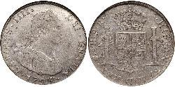 4 Real Spanish Colonies Silber Karl IV (1748-1819)