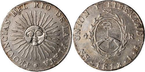4 Real Vereinigte Provinzen des Río de la Plata (1810 -1831) Silber