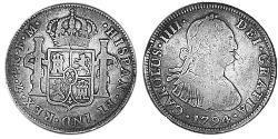 4 Real Vizekönigreich Neuspanien (1519 - 1821) Silber Karl IV (1748-1819)