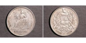 4 Real Republic of Guatemala (1838 - ) Silver