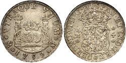 4 Real Spanish Mexico  / Kingdom of New Spain (1519 - 1821) Silver Ferdinand VI of Spain (1713-1759)
