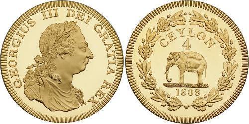 4 Rixdollar Sri Lanka/Ceylon / United Kingdom of Great Britain and Ireland (1801-1922) Gold George III (1738-1820)