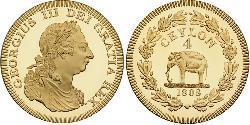 4 Rixdollar Sri Lanka / Vereinigtes Königreich von Großbritannien und Irland (1801-1922) Gold Georg III (1738-1820)