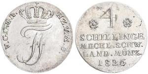 4 Shilling Grand-duché de Mecklembourg-Schwerin (1352-1918) Argent Frédéric-François Ier de Mecklembourg-Schwerin