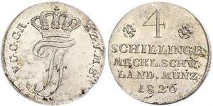 4 Shilling Mecklemburgo-Schwerin (1352-1918) Plata Federico Francisco I de Mecklemburgo-Schwerin