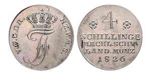 4 Shilling Mecklenburg-Schwerin (1352-1918) Silber Friedrich Franz I. (Mecklenburg)