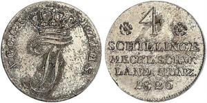 4 Shilling Duchy of Mecklenburg-Schwerin (1352-1918) Silver Frederick Francis I, Grand Duke of Mecklenburg-Schwerin