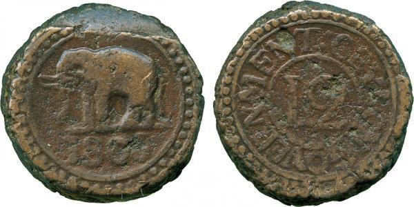 4 Stiver / 1/12 Rixdollar Sri Lanka/Ceylon 銅 喬治三世 (1738-1820)