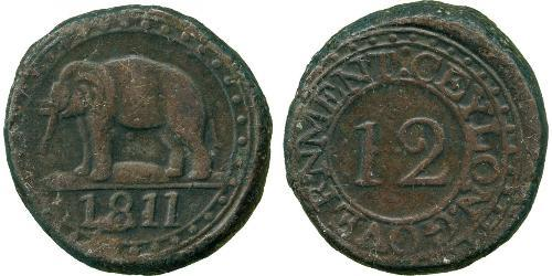 4 Stiver / 1/12 Rixdollar Sri Lanka Cuivre George III (1738-1820)